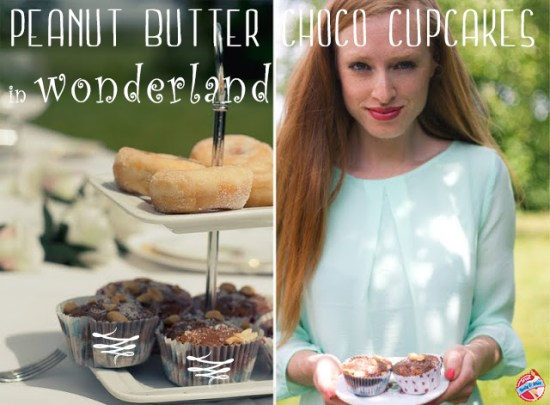 clean peanut butter chocolate cupcakes
