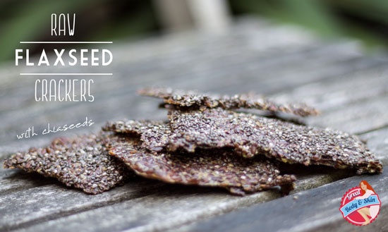 raw flaxseed crackers with chiaseeds