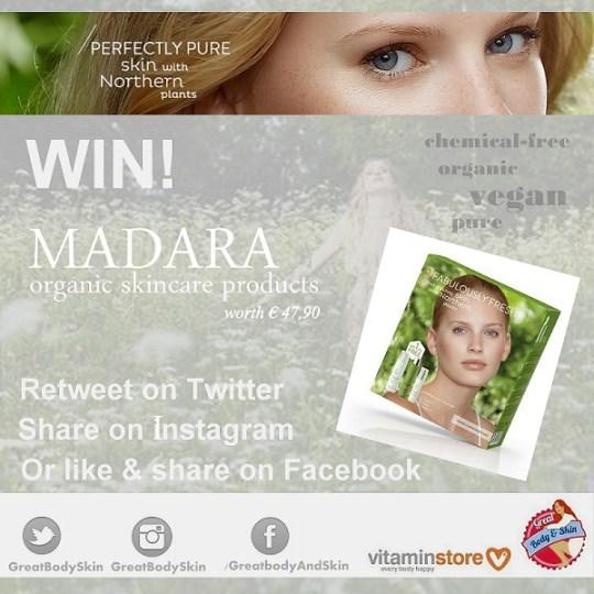Give-away: organic vegan MADARA skincare products!