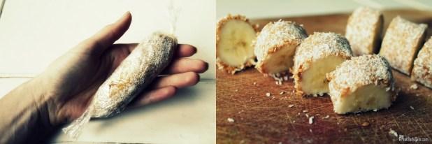 Peanutbutter coconut banana  bonbons
