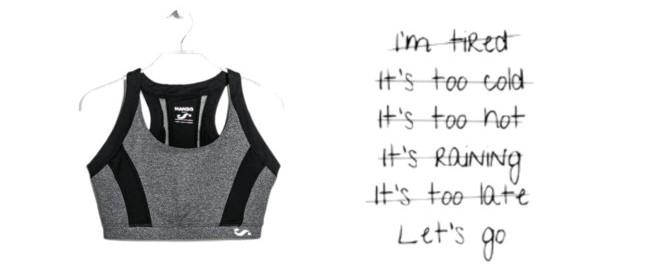 sports bra's in 7 shades of grey