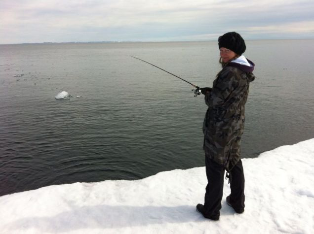 Fishing at Floe Edge
