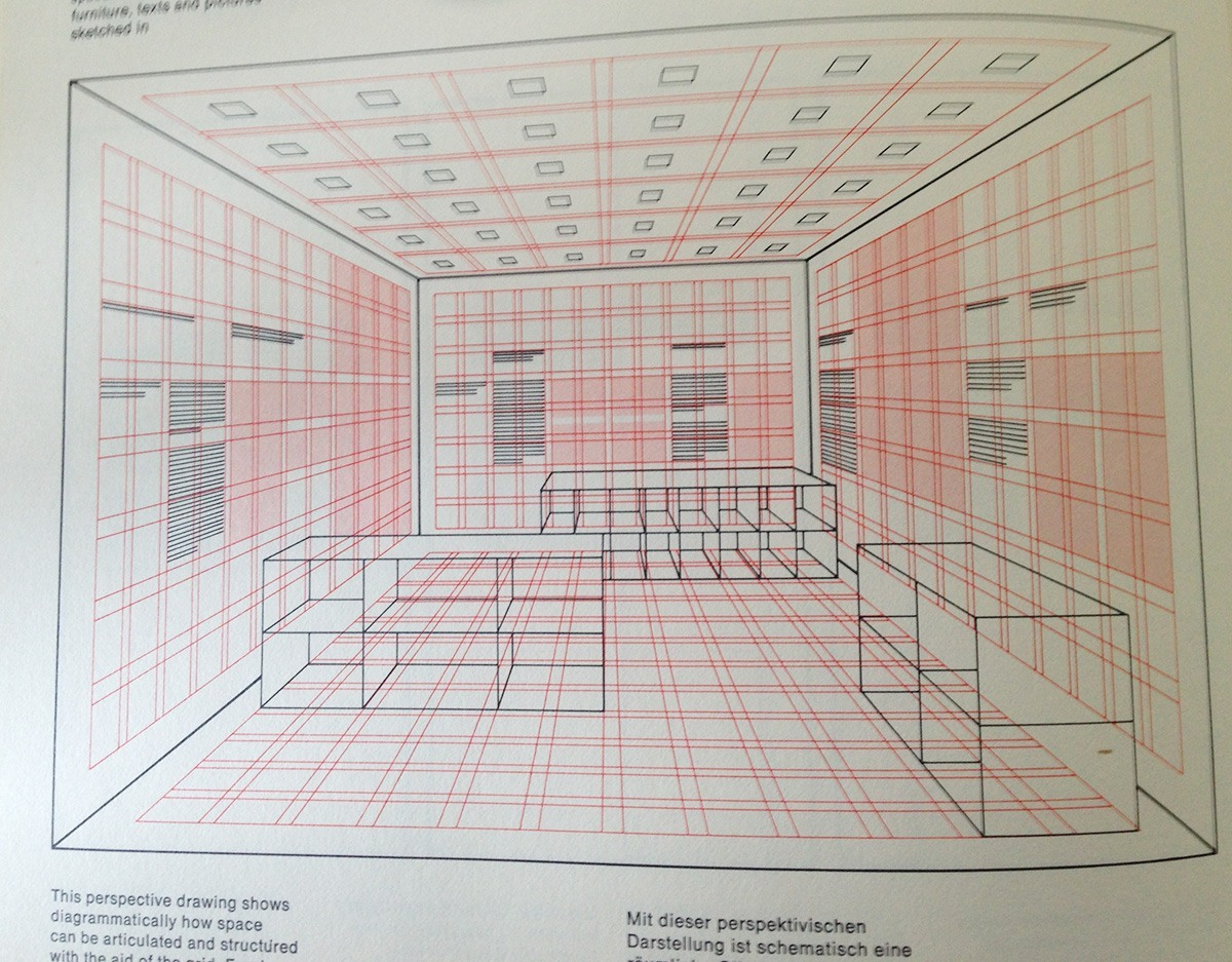 example of a room layout built using a 3d grid system