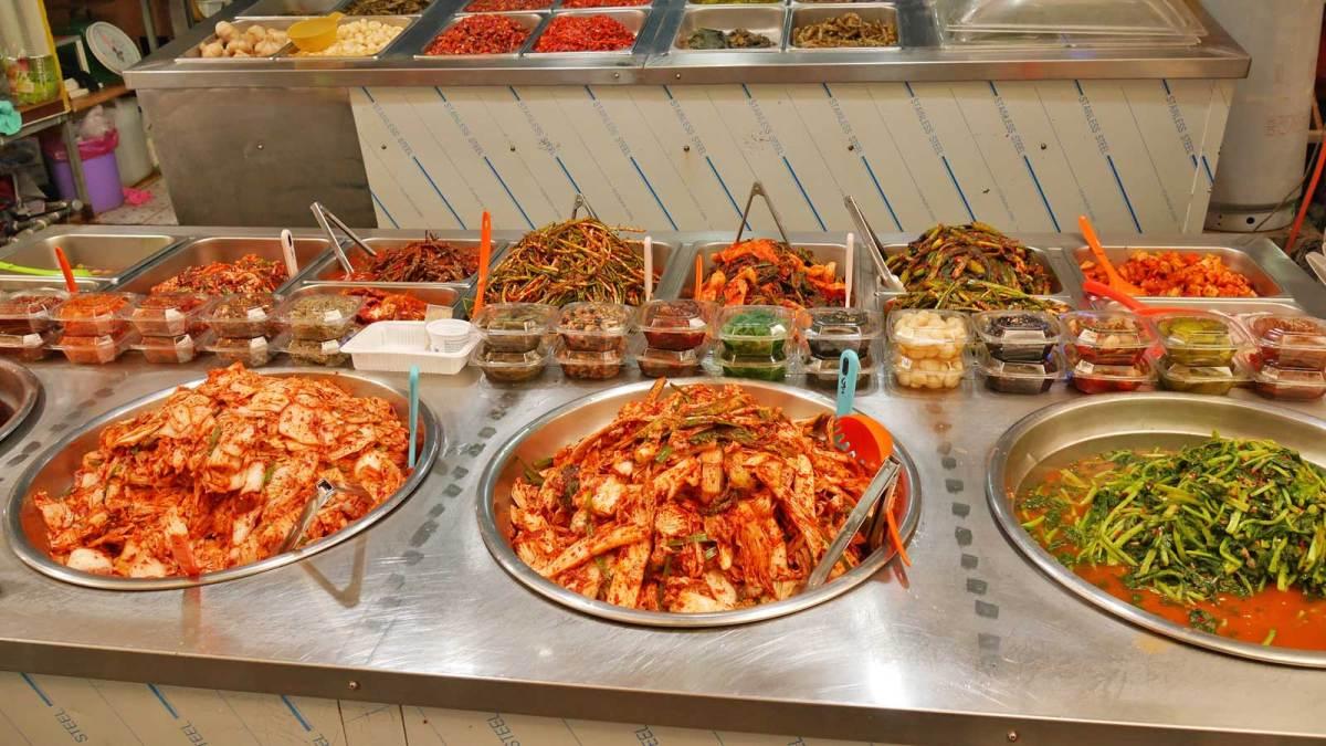 Colourful kimchi
