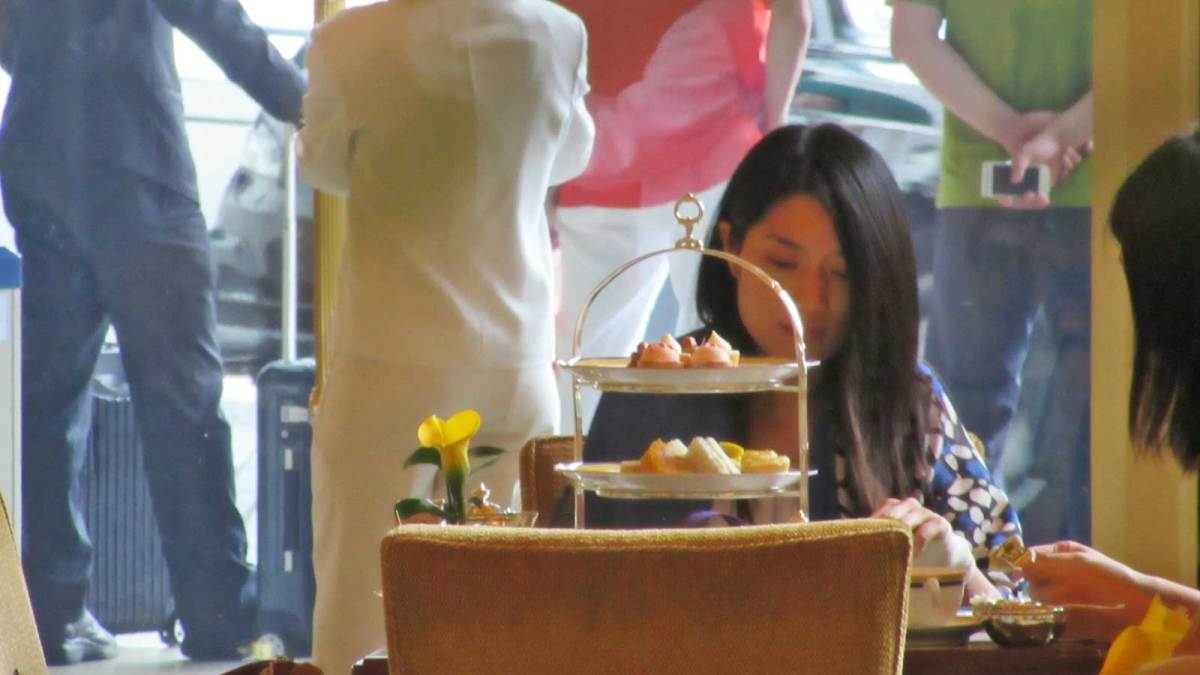 High tea at the Peninsula Hotel