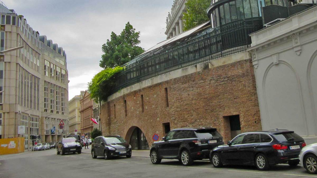 What's left of Vienna's old city walls