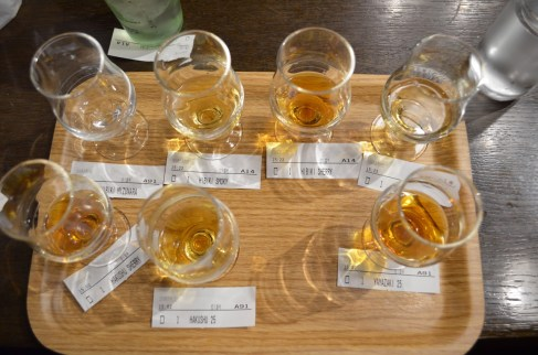 Japanese whisky tasting