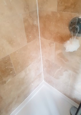 Travertine Shower After Cleaning Newton Heath