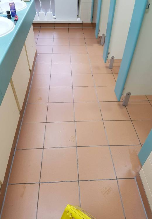 Toilet Floor at Corporate Offices Manchester After Cleaning