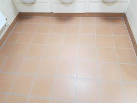 Mens Toilet Floor at Corporate Offices After Grout Colouring
