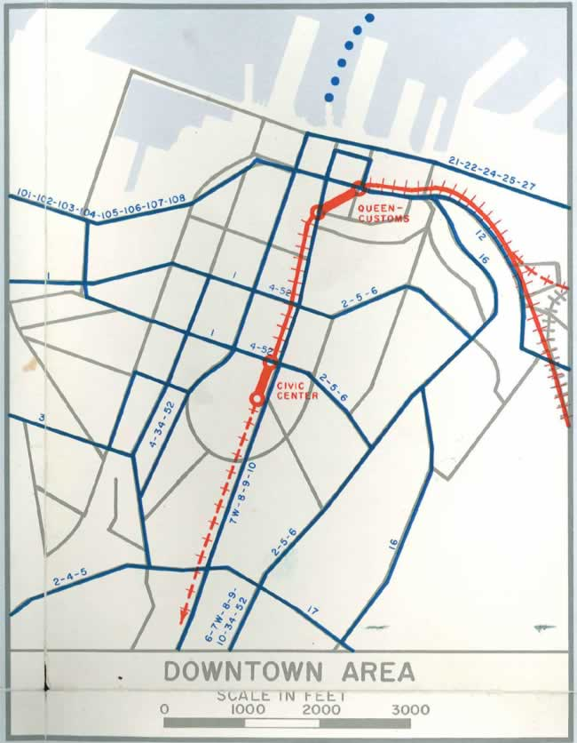 de leuw cather transit map