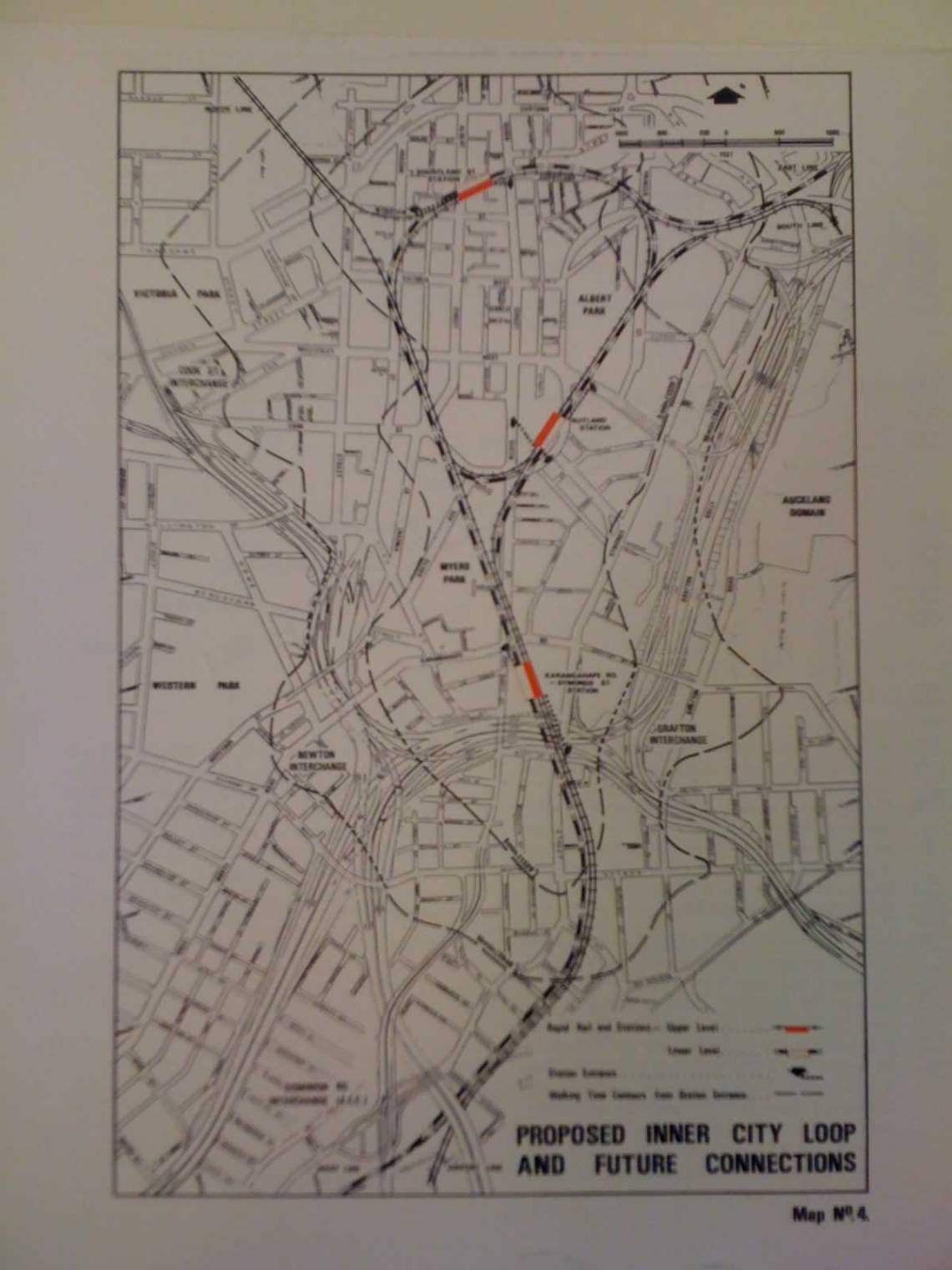 The City Loop proposal from 1972. Click to view full detail.