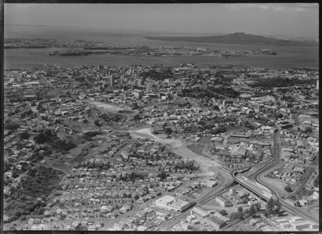1963, Dominion Rd flyover in the foreground