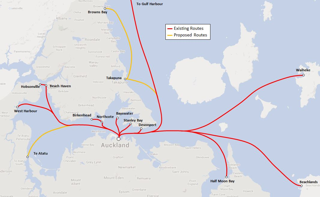 Auckland Ferry Routes 2