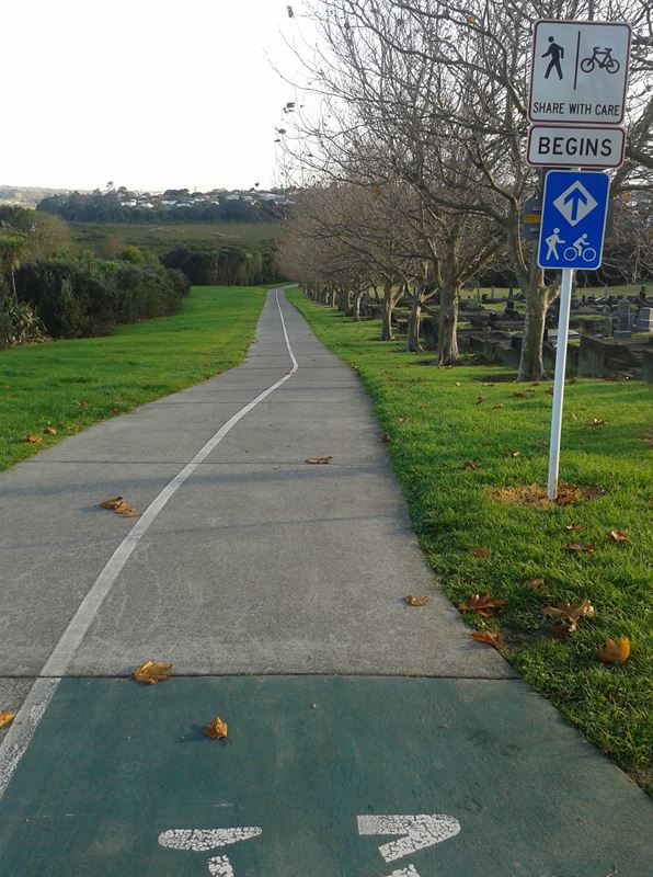 Peter Cycle commute to Takapuna 5