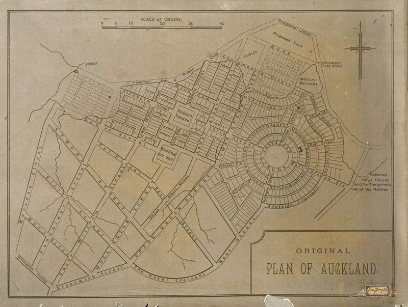Auckland Plan 1841 Felton Mathew