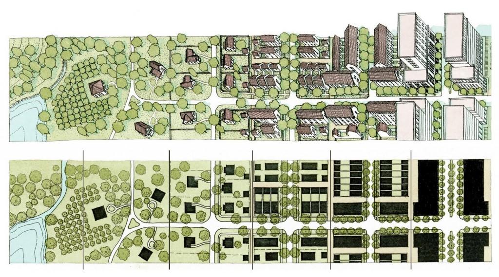 retrofitting suburbia density gradient