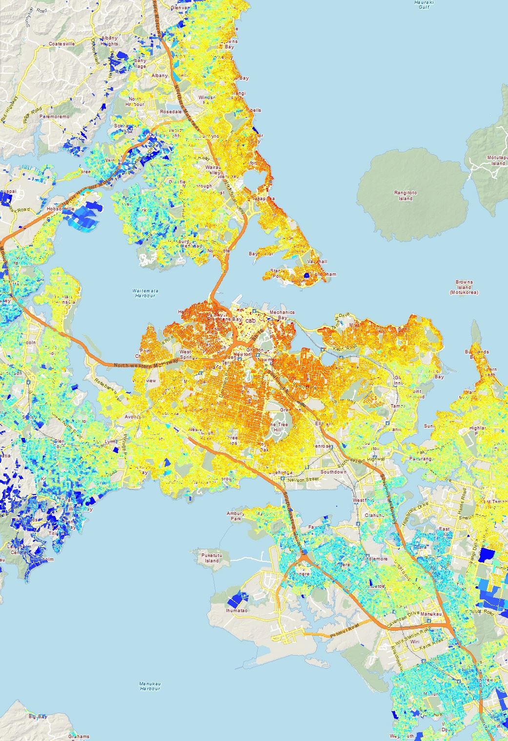 New Auckland valuation maps - Greater Auckland