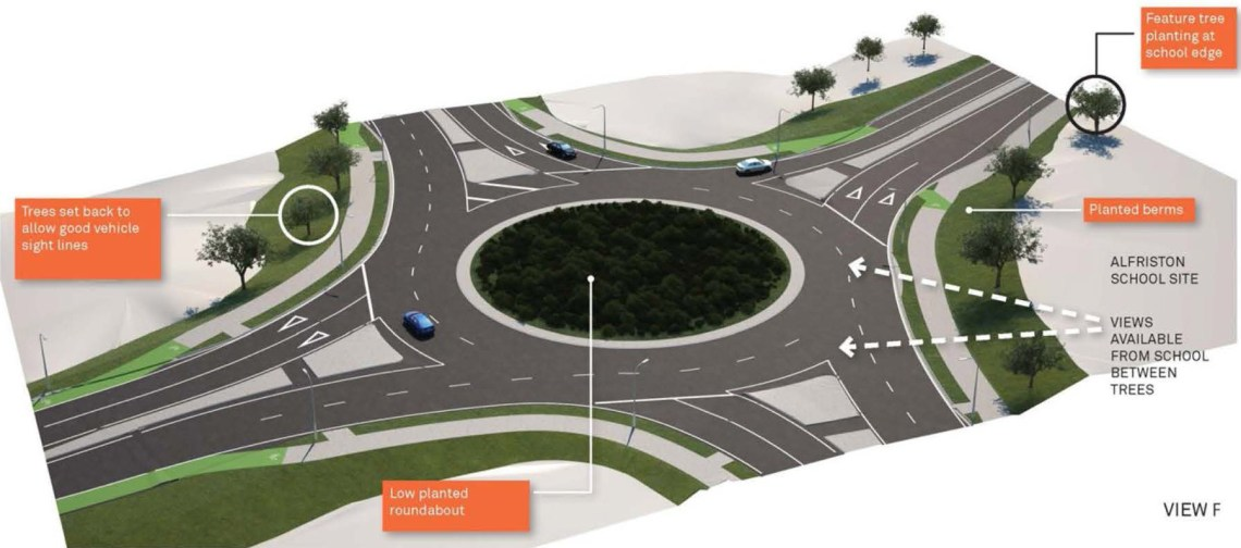 Mill Rd - Totara Park - Alfriston School Roundabout