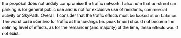 Skypath - Council RMA Report - On Stree Parking