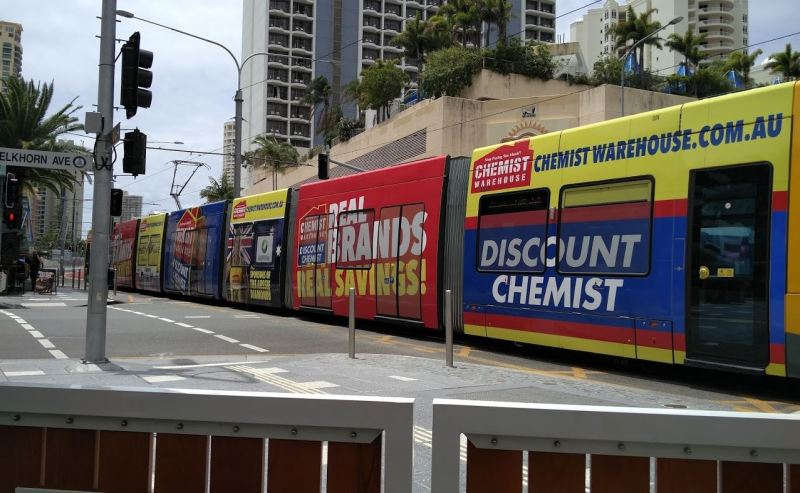 Gold Coast Light Rail  - Tram Advertising