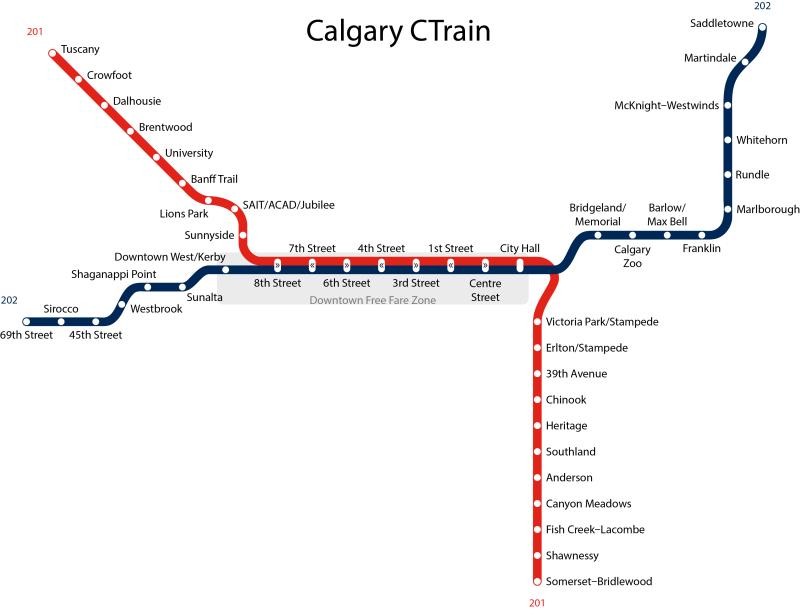 Calgary_CTrain_Map