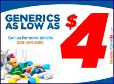 $4 generics prescriptions