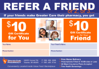 Greater Care Pharmacy friend referral
