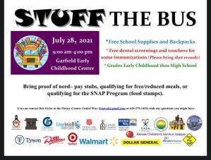 Stuff the Bus @ Garfield Early Childhood Center