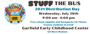 Stuff the Bus Distribution @ Garfield Early Childhood Center