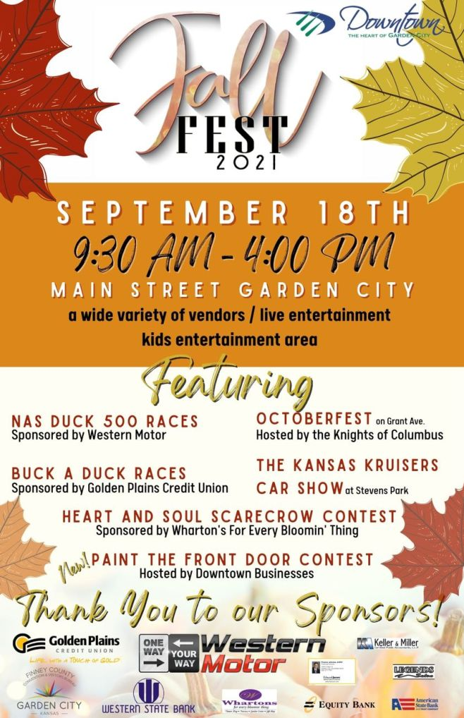Fall Fest scheduled for Saturday, Sept. 18