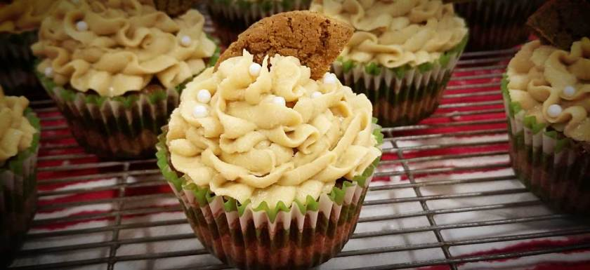 Gingerbread Cupcakes with Molasses Caramel Frosting