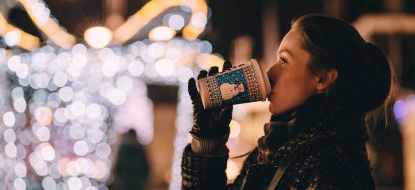 Holiday Lights and Coffee