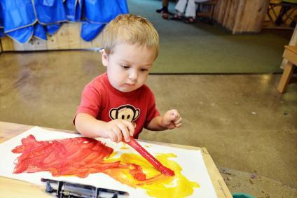 Preschoolers Toddler Painting