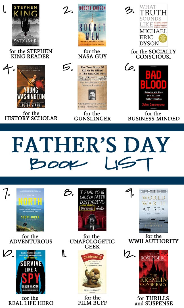 2018 Father's Day Book List
