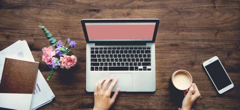 Woman Coffee Blogger