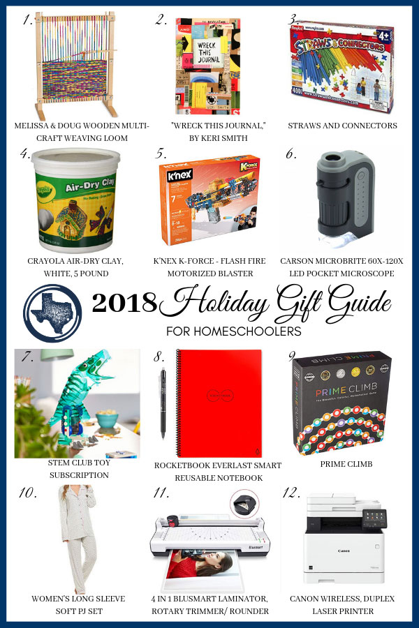 2018 Holiday Gift Guide for Homeschoolers
