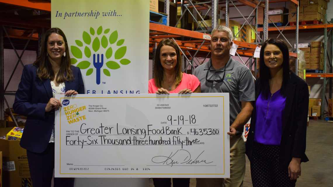 Kroger Presents a Check to GLFB