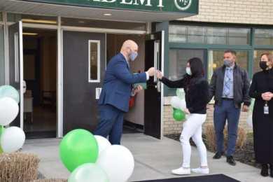 Floyd Academy student celebrates graduation with principal