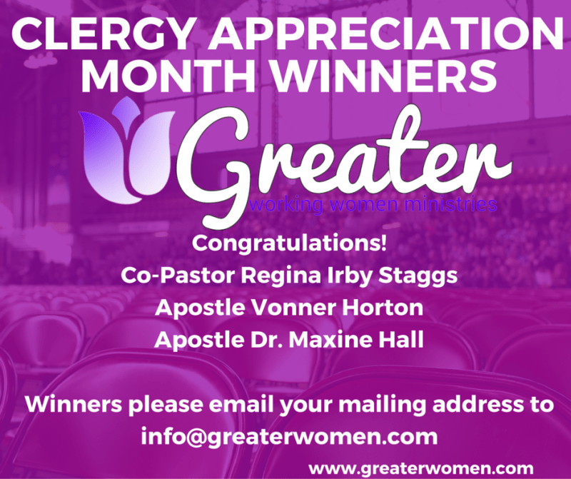 Clergy Appreciation Month 2015 Winners FB