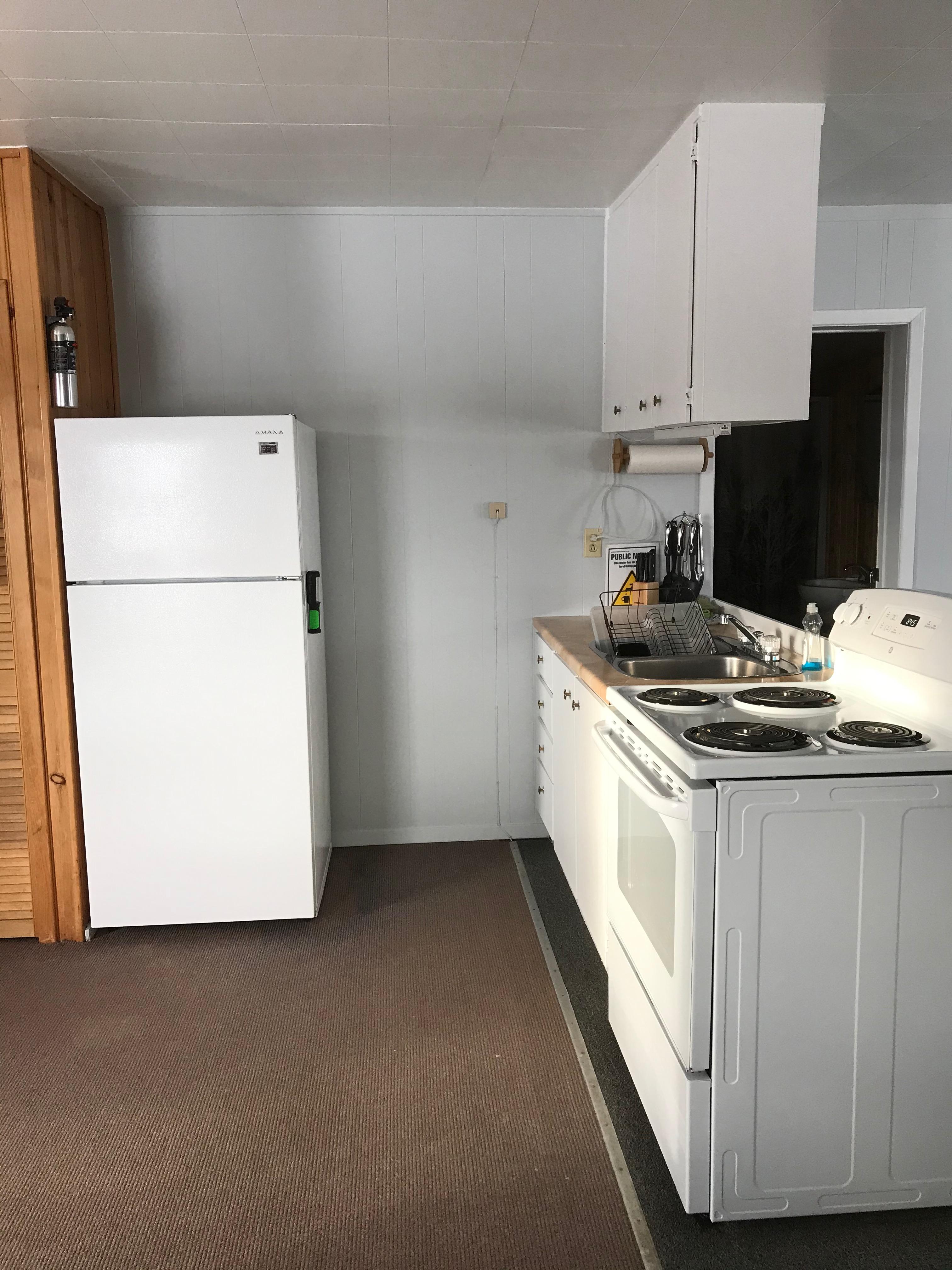 Cabin 2 open kitchen area