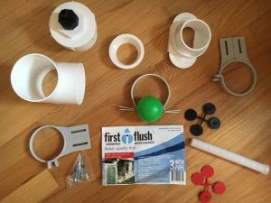DIY Rainwater Collection System First Flush
