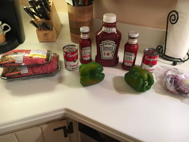 Making Homemade Sloppy Joe for a Group