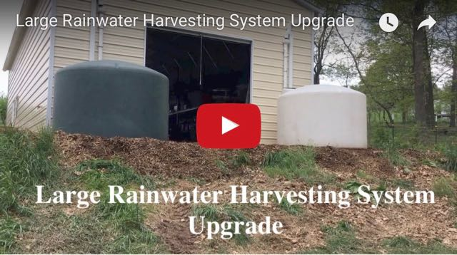 Large Rainwater Harvesting System Upgrade - Video