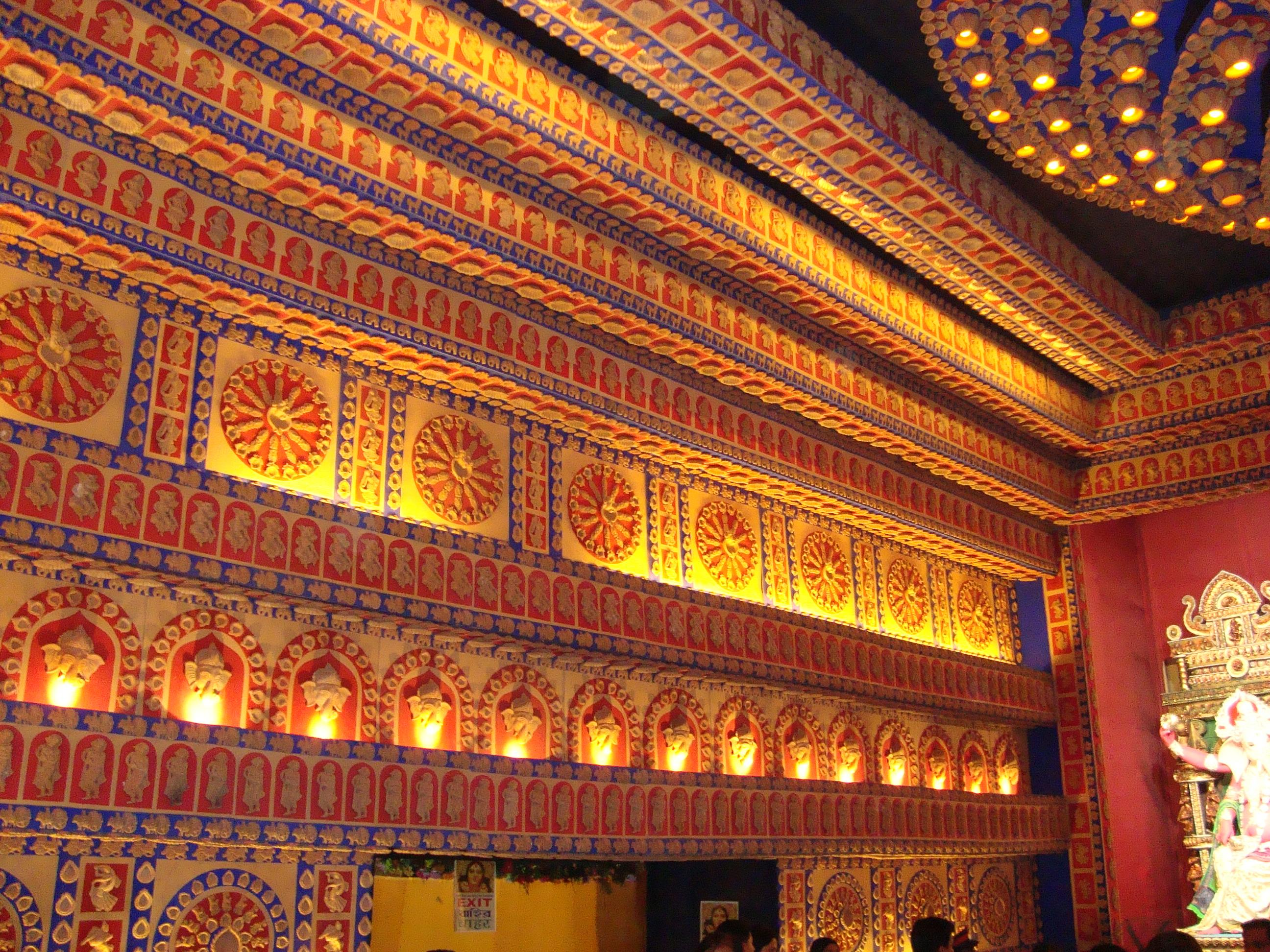 Pandal with claywork