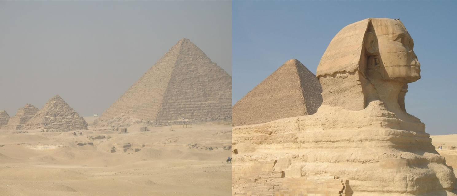 The great Pyramids n Sphinx at Giza