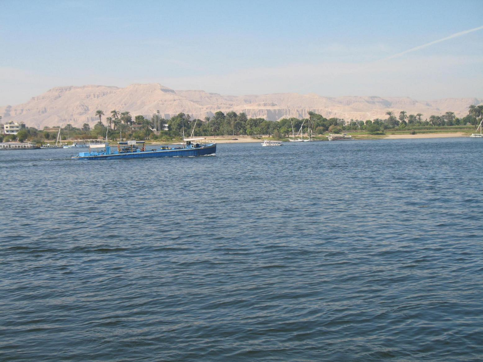 The beautiful River Nile at Luxor, Egypt
