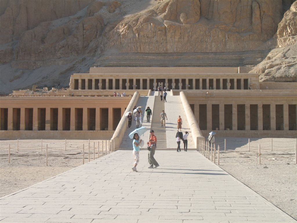 The majestic temple of Queen Hatshepsud, Luxor, Egypt