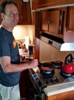 Miramar Beach, FL; RV; cooking