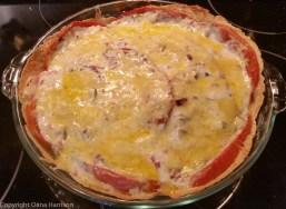 Tomato pie, ready to eat